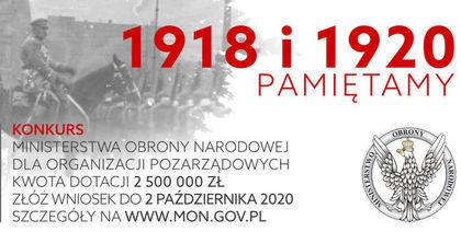 """Konkurs """"1918 i 1920 PAMIĘTAMY"""""""