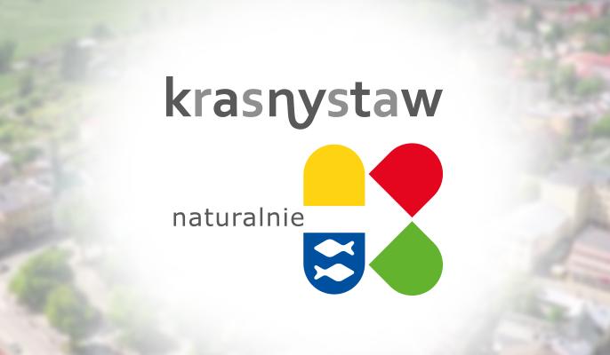 Grafika ogólna logo na rozmazanym tle