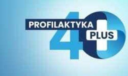 Na zdjęciu tytuł programu Profilaktyka 40 plus