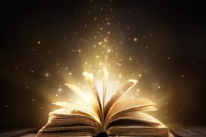 Otwarta magiczna książka