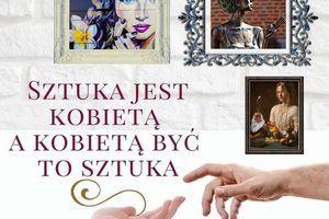 Kawałek plakatu z napisem: SZTUKA JEST KOBIETĄ Α ΚΟΒΙΕΤΑ ΒYC TO SZTUKA