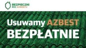 Informacja - Utylizacji wyrobów azbestowych
