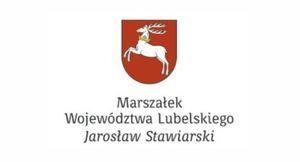 Napis: Marszałek Województwa Lubelskiego Jarosław Stawiarski