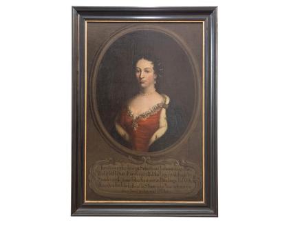 Krystyna Anna Potocka, née  Lubomirska - Painting on canvas, Poland, 18th century