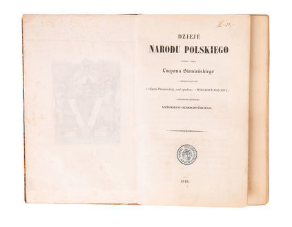 Люціан Сіменський Dzieje Narodu Polskiego ( Події Польського Народу)