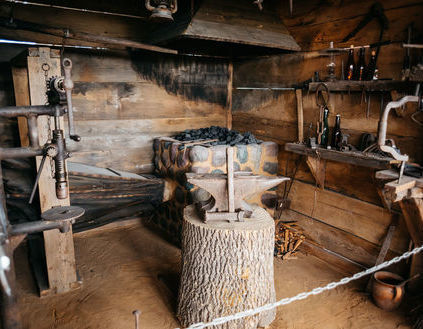 Reconstructed blacksmith's shop from the turn of the 19th and 20th centuries