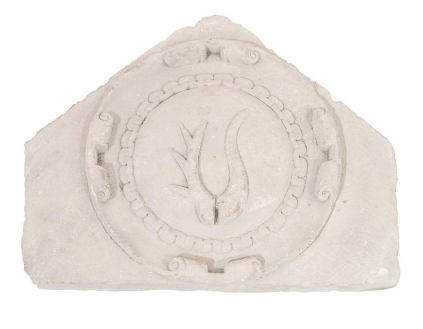 Cartouche with the Rogala coat of arms from the castle in Krupe
