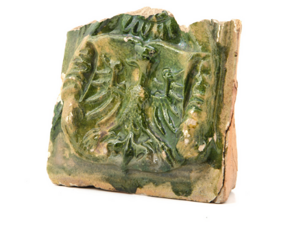 Tile from the castle in Krupe