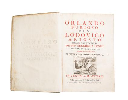 """Antique print – """"Orlando Furioso"""", Lodovico Ariosto"""