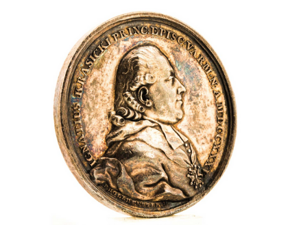 Award medal for Bishop Ignacy Krasicki
