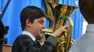 Pierwszy  koncert  Gminnej Orkiestry Dętej