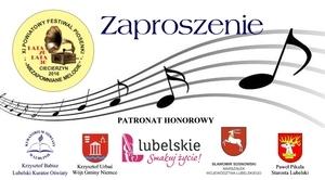 ZAPROSZENIE na XI Powiatowy Festiwal Piosenki w Ciecierzynie