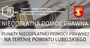 Przypominamy o Punktach Nieodpłatnej Pomocy Prawnej