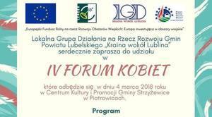 ZAPROSZENIE: na IV Forum Kobiet