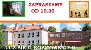 ZAPROSZENIE: na Dzień Otwarty w Szkole Podstawowej w Krasieninie