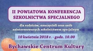 ZAPROSZENIE: na II Powiatową Konferencję Szkolnictwa Specjalnego