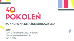 """Konkurs literacki """"40 Pokoleń"""""""