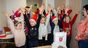 Wizyta najmłodszych mieszkańców gminy ze świątecznymi życzeniami