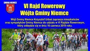 ZAPROSZENIE: na VI Rajd Rowerowy Wójta Gminy Niemce