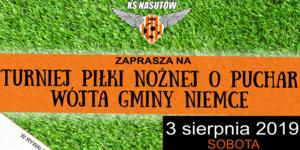 Zaproszenie: na Turniej Piłki Nożnej o Puchar Wójta Gminy Niemce