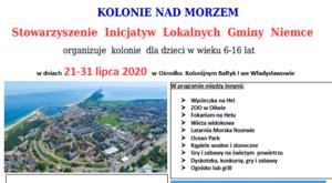 Stowarzyszenie Inicjatyw Lokalnych zaprasza na kolonie i półkolonie