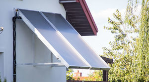 Wykadrowana grafika przedstawiająca instalacje solarną