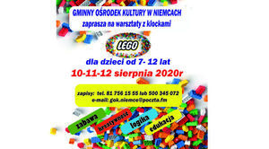 Gminny Ośrodek Kultury w Niemcach zaprasza na warsztaty z klockami Lego