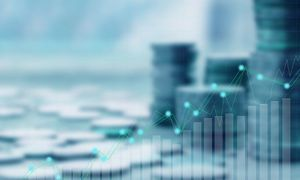 Wykres inwestycji na zblurowanym tle
