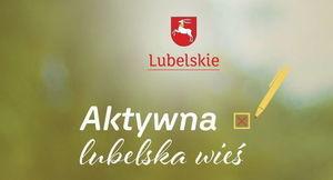 Baner z napisem Aktywna Wieś