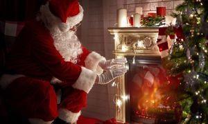 Mikołaj przy kominku