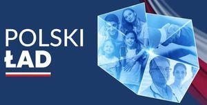 Plakat programu Polski Ład
