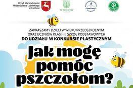 Grafika przedstawia część plakatu Jak mogę pomóc pszczołom?