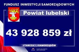Dodatkowe środki finansowe dla Powiatu Lubelskiego w ramach Funduszu Inwestycji Samorządowych