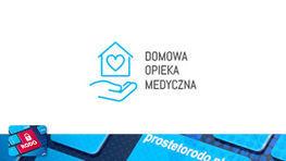 Rysunek domu z napisem Domowa Opieka Medyczna