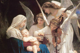Obraz William-Adolphe Bouguereau (1825-1905) Song of the Angels