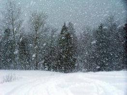 zdjęcie przedstawia burzę śnieżną