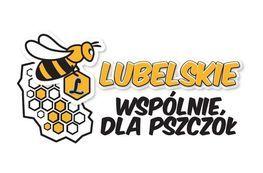 pszczoła i napis lubelskie wspólnie dla pszczół