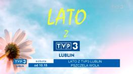 Klatka filowa z napisami Lato z TVP 3 Lublin Pszczela Wolas obota od 10.15