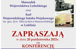 napis na plakacie marszałek województwa lubelskiego oraz szef wojewódzkiego sztabu