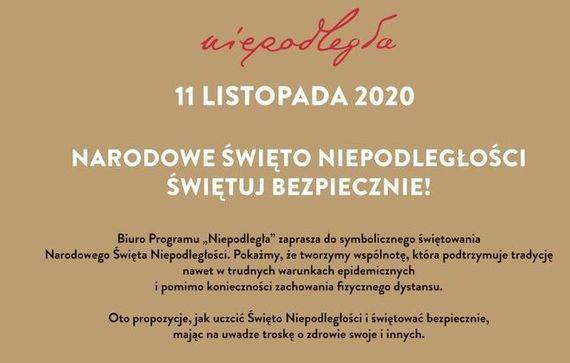 Fragment plakatu niepodległa 2020 plakat opisany w galerii do aktualności