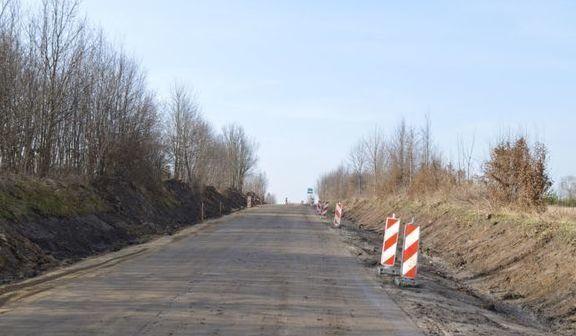 """Trwają prace przy realizacji inwestycji pn.: """" Przebudowa drogi powiatowej Nr 1349 L od km 0+616,5 do km 1+615,6 – ul. Młynarskiej w Rykach"""""""