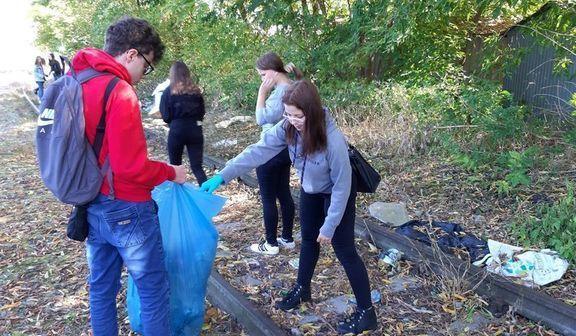 Sprzątanie świata przez uczniów