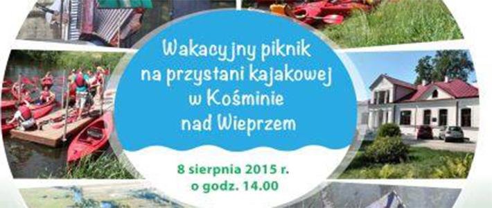Wakacyjny piknik na przystani kajakowej w Kośminie nad Wieprzem