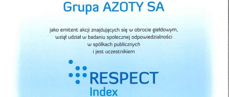 Grupa Azoty S.A. wśród laureatów indexu odpowiedzialnego biznesu