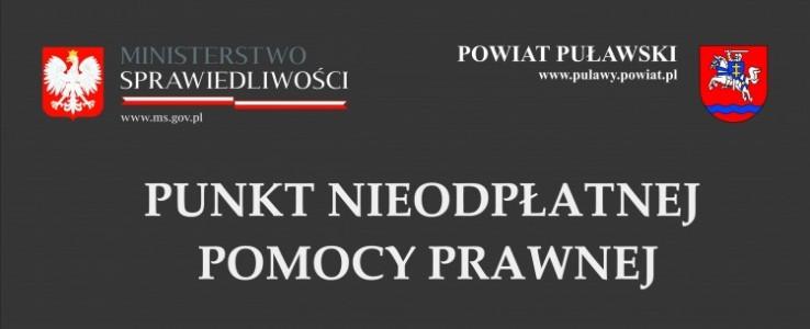 Starosta Puławski zaprasza uprawnione osoby do korzystania z nieodpłatnej pomocy prawnej - przypomnienie