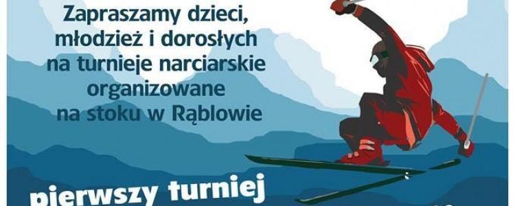 Zawody narciarskie w Rąblowie
