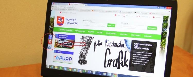 Nowości na stronie internetowej Powiatu Puławskiego