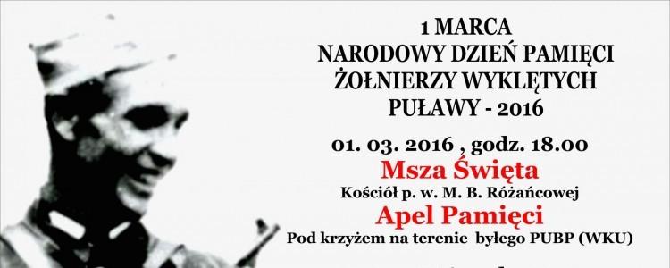 Narodowy Dzień Pamięci Żołnierzy Wyklętych w Puławach