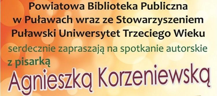 Spotkanie autorskie z Agnieszką Korzeniewską