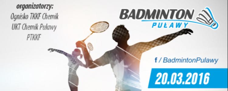 III Mistrzostwa Puław w Badmintonie I Turniej Grand Prix Lubelszczyzny - już w najbliższą niedielę